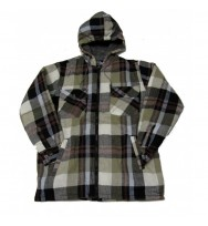 Soft Sherpa Hooded Flannel Shirt (1822)