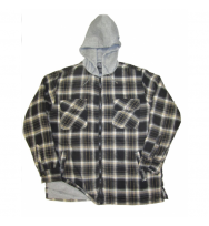 Polar Fleece Hood Flannel Shirt (2822)