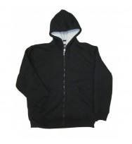 Zipper Front Bonded Hooded Sweatshirt (788)